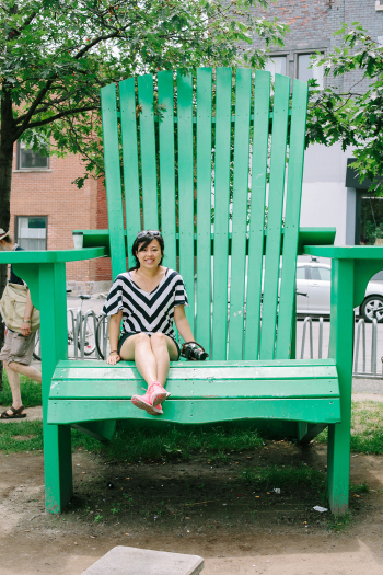 Big Green Chair in Montreal