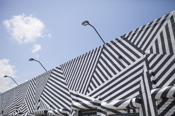 Black and White Art in the Wynwood Arts District of Miami