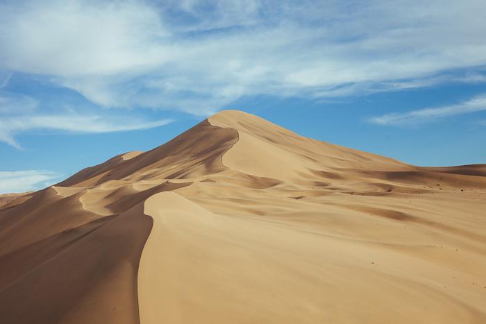 Blue Skies at the Mingsha Sand Dunes