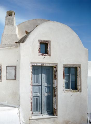 Blue and White Home in Oia Santorini