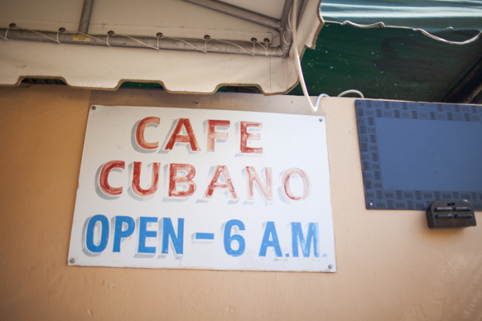 Cafe Cubano Sign at The Oasis