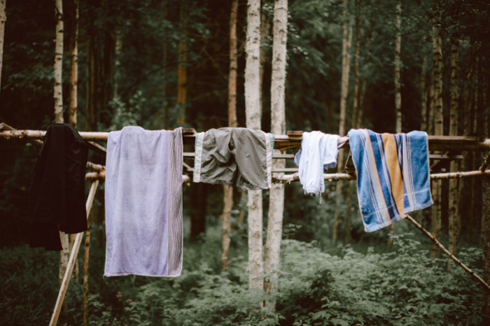 Clothesline in Finland