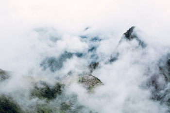 Cloudy Skies Over Machu Picchu