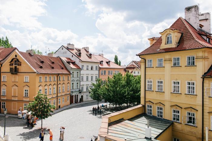 Colorful Buildings in Prague