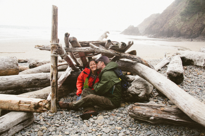 Driftwood Fort at the Oregon Coast