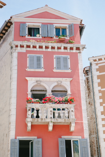 Flowered Balcony in Croatia