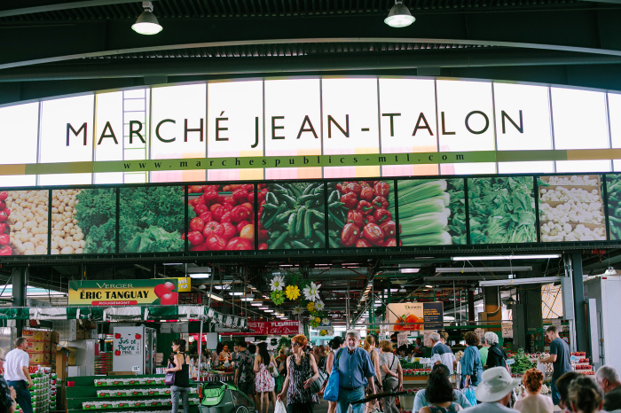Inside Marche Jean Talon of Montreal