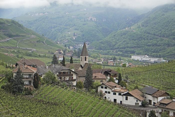 Landscape of Bolzano Italy