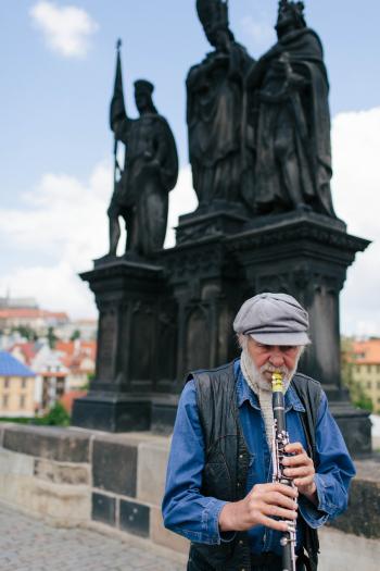 Musician on Charles Bridge