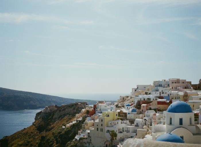 Overlooking Oia Santorini