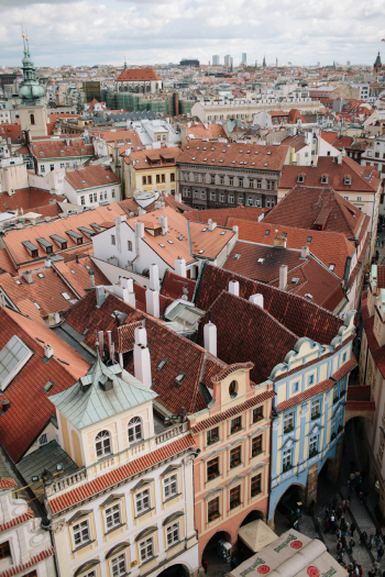 Prague Buildings from Above