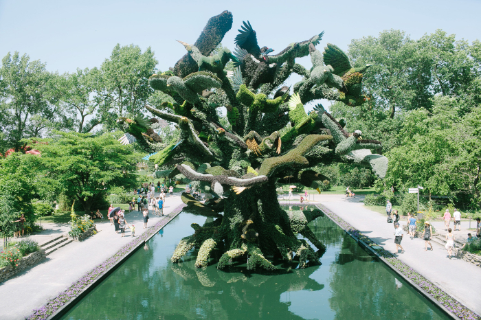 Sculpture at the  Jardin Botanique of Montreal