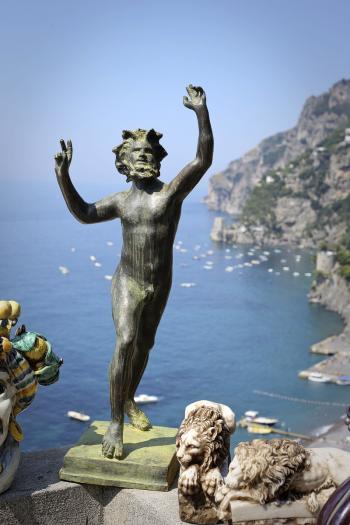 Statue in Capri Italy