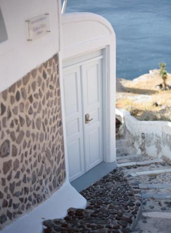 Steep Stone Steps of Santorini