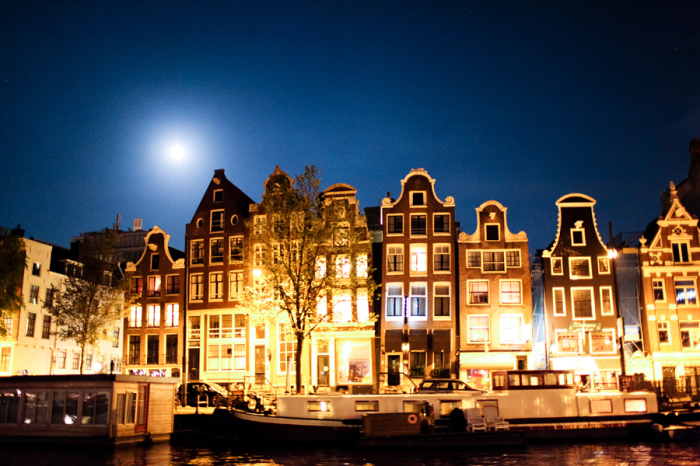 Amsterdam Architecture at Night