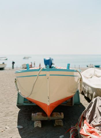 Boat on a Trailer in Positano
