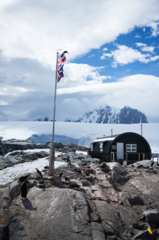 British Flag in Antarctica