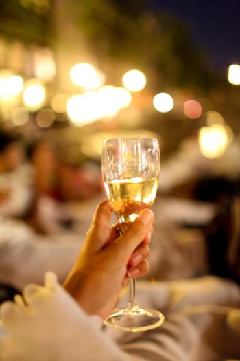Champagne in Amsterdam