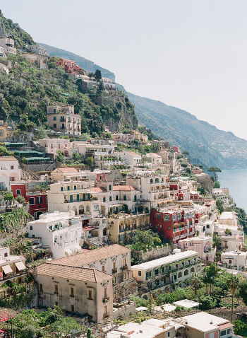 Cliffside Dwellings in Positano