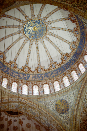 Detailed Ceiling at the Istanbul Blue Mosque