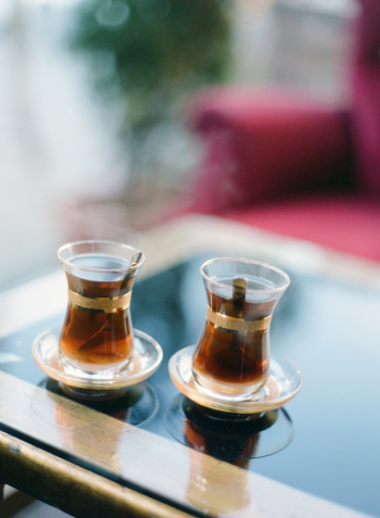 Hot Tea for Two in Istanbul