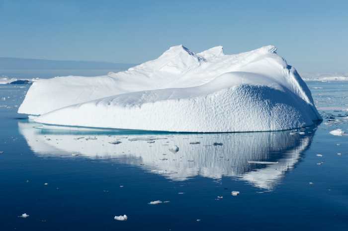 Icebergs Floating in Antarctica