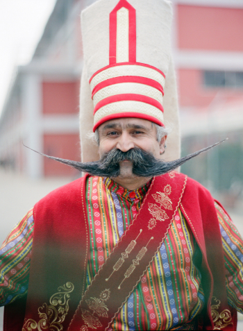 Man in Traditional Turkish Attire in Istanbul