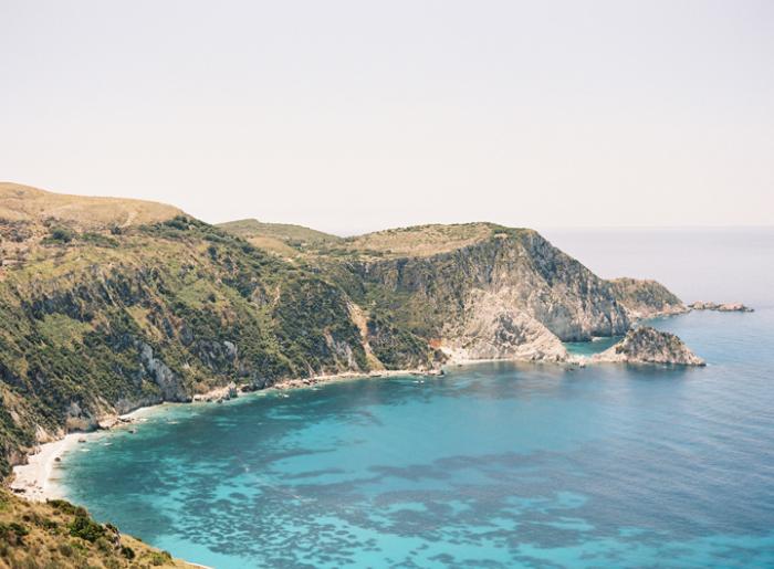 Oceanside Cliffs in Kefalonia Greece