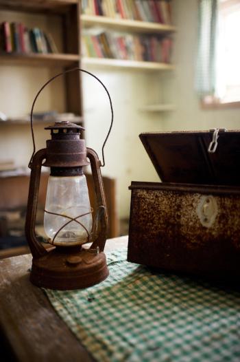 Rusted Lantern in Antarctica