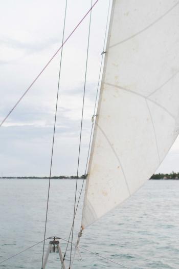 Sailboat in Belize