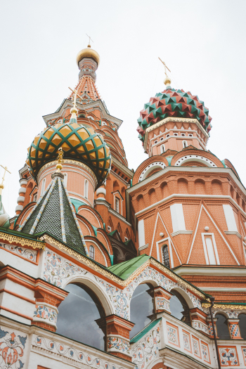 St Basil Cathedral in Moscow Russia