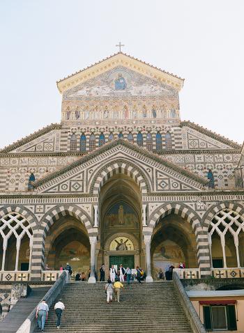 Steps and Tile at the Duomo di Amalfi