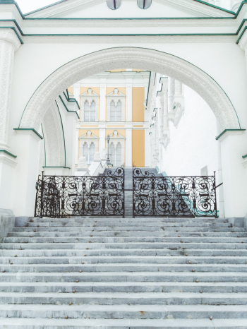Steps in The Kremlin in Moscow