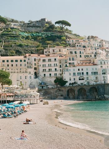 Sunbathing in Amalfi