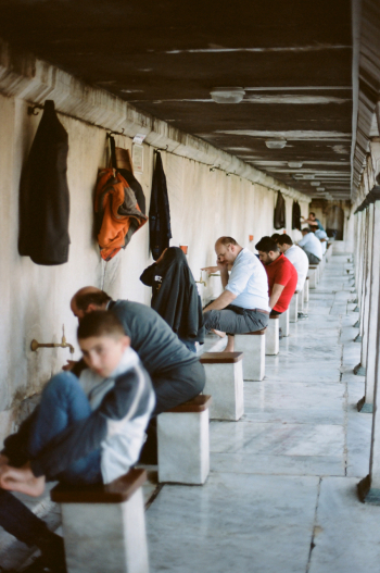 Washing Feet at the Istanbul Blue Mosque