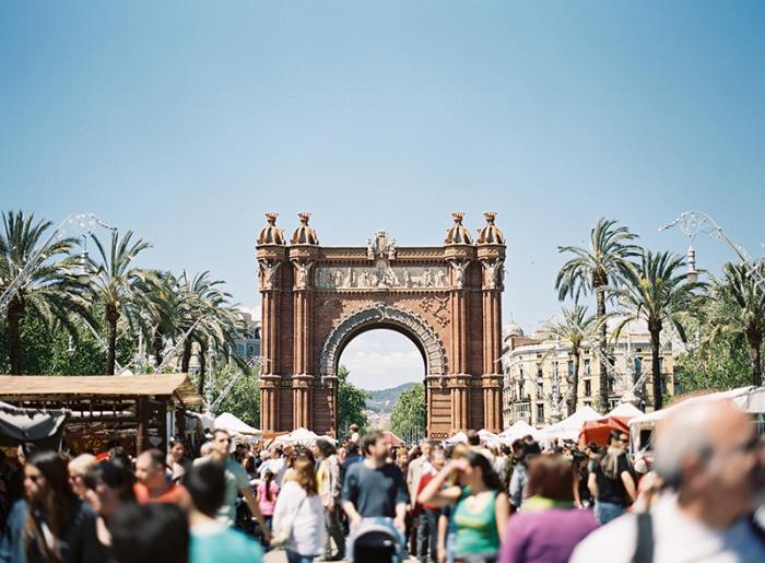Arc de Triomf in Barcelona Spain