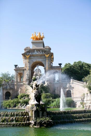 Cascada Fountain at Parc de la Ciutadella in Barcelona