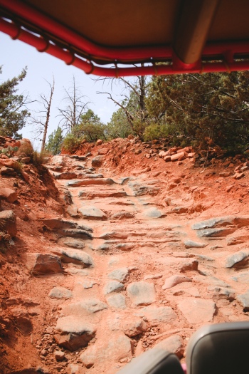 Climbing a Rock Staircase by Jeep in Sedona