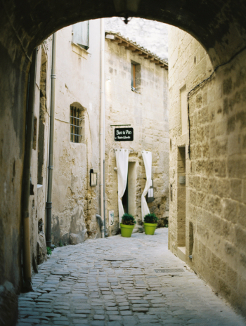 Cobblestone Alley in Uzes France