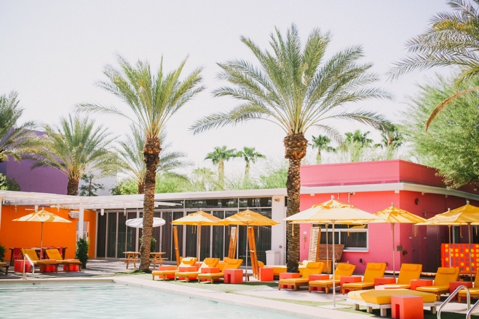 Colorful Pool Seating at the Saguaro Hotel in Scottsdale Arizona