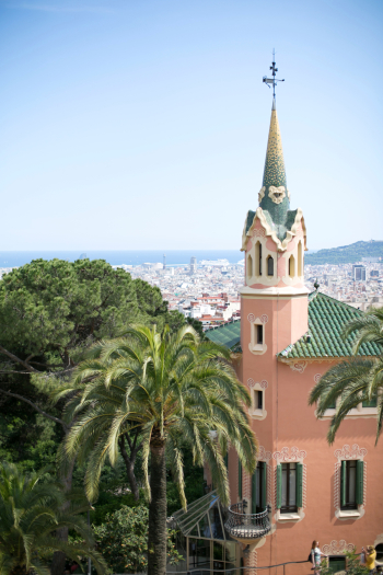 Gaudi House Church at Park Guell in Barcelona
