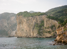 Green Cliffs of Corfu Greece