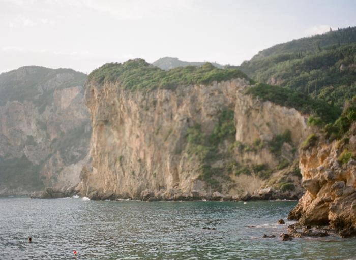 Green Cliffs of Corfu Greece