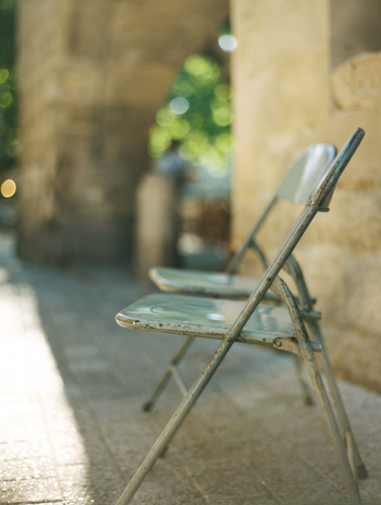 Metal Chairs in Uzes France