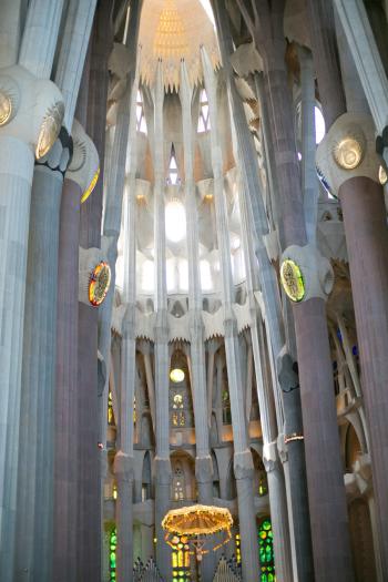 Ornate Details at La Sagrada Familia in Barcelona Spain