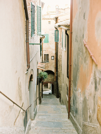 Steep and Narrow Steps in Tuscany