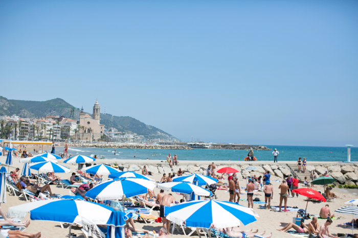 Sunny Skies on the Beach in Sitges Spain