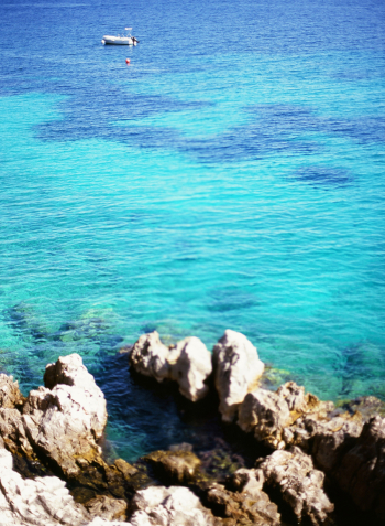 Teal Waters of Kalamaki Beach in Corfu Greece