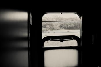 Train Window in Vietnam