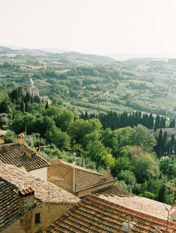 View of Tuscany from La Foce